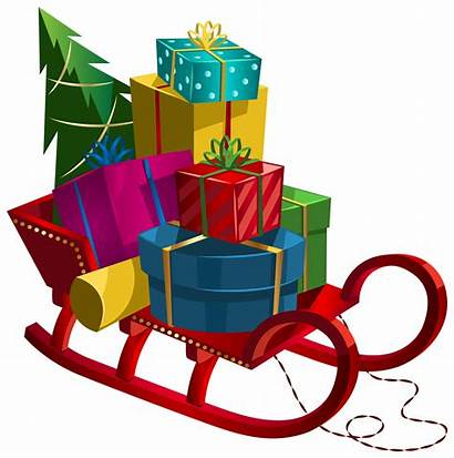 Sleigh Clip Clipart Gifts Transparent Yopriceville 1599