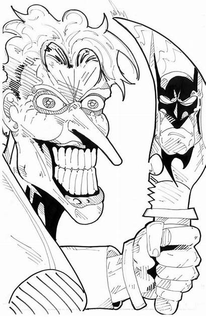 Coloring Scary Joker Pages Knife Clown Pennywise