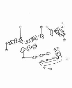 Jeep Grand Cherokee Gasket  Exhaust Manifold  Right  Diesel  Manifolds  Engine