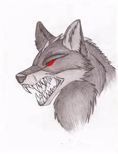 Demon Wolf with Wings Drawings