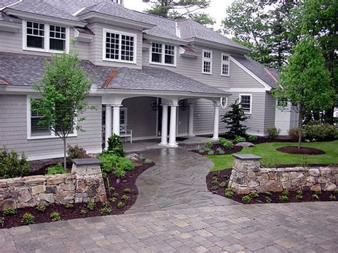 front walkway landscape front yard landscaping gilford nh photo gallery landscaping network