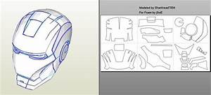 robo3687 iron man mark 4 6 pepakura foam templates easy With iron man helmet template download