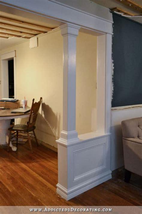 pony walls  columns finished remodel bedroom