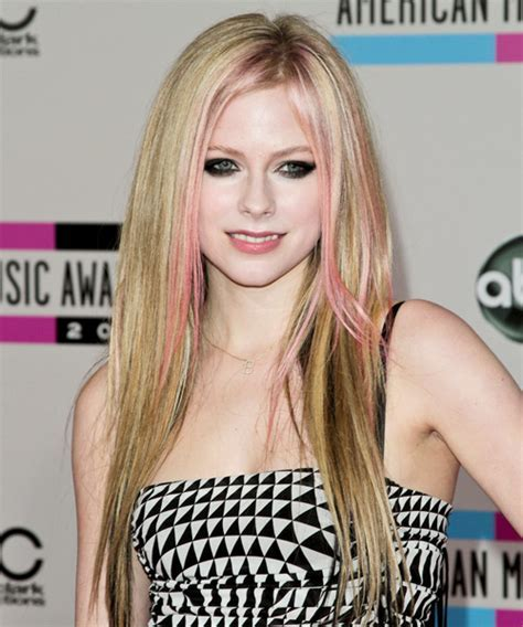 Avril Lavigne Long Straight Casual Hairstyle