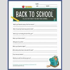 {free Printable} Backtoschool Worksheet  Blog  Botanical Paperworks