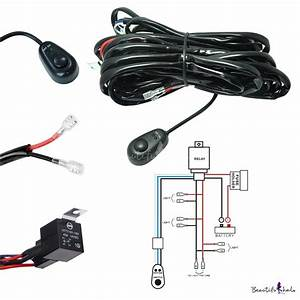 Led Light Bar Wiring Harness Kit 180w 12v 40a Fuse Relay