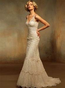 vintage cream colored fitted ivory lacy wedding gown With cream colored wedding dresses