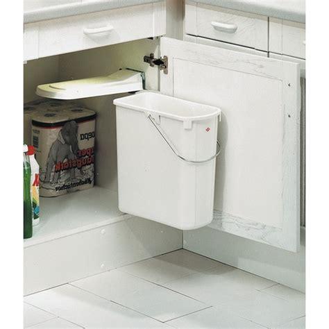 poubelle de cuisine poubelle de porte de cuisine 1 bac de 19 litres bricozor