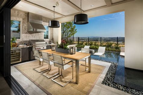 Luxury Home With Indoor Outdoor Family Living Spaces by Toll Brothers The Serrano Luxury Outdoor Living Space