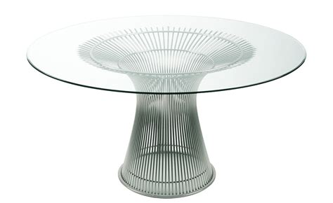 unique glass coffee tables platner nickel dining table hivemodern com