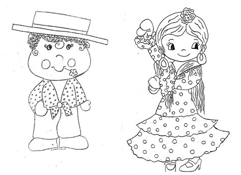 Tarjetas infantiles con dibujos de la feria para imprimir y enseñar a los niños. MUSICA EN RIOMAR: FERIA DE ABRIL