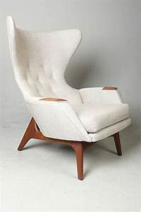 Adrian, Pearsall, For, Craft, Associates, Modern, Wingback, Chair, At, 1stdibs