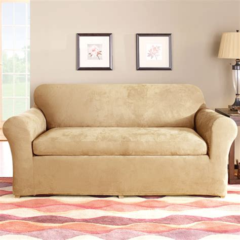 Sure Fit Sofa Slipcover 2 by Sure Fit Stretch Suede 2 Sofa Slipcover Walmart