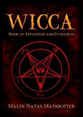 wicca book  affliction magick  spirit evocation
