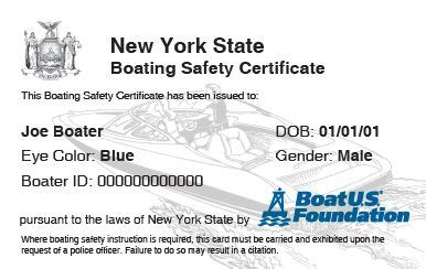 Boating License Ny by New York Boating Safety Course Boatus Foundation