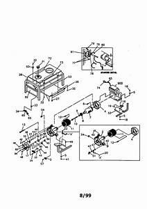 Companion 5000 Watt Electric Start Generator Parts