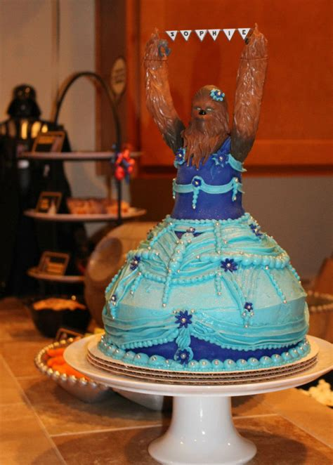 year  girls princess chewbacca birthday cake