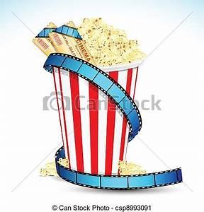 Popcorn Movie Night Clipart
