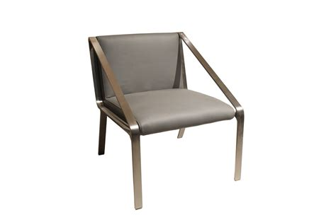 modrest a8593 modern grey bonded leather accent chair