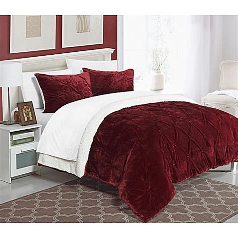 Sherpa Lined Comforter - buy chic home adele sherpa lined king comforter set in
