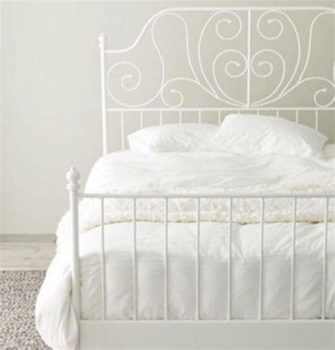 ikea white metal king size bed frame in rumney cardiff