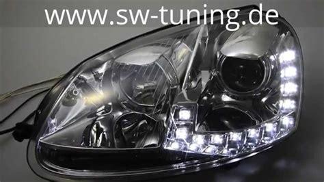 Swdrl Scheinwerfer F 252 R Vw Golf V Led Tagfahrlicht Chrome Sw Tuning