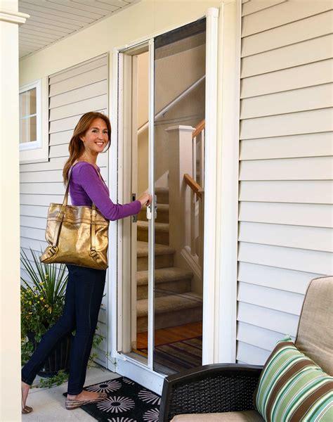 odl retractable screen door odl brisa retractable screen doors sliding patio