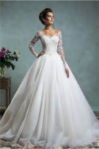 wedding gown with sleeves gown the shoulder tulle lace wedding dress with sleeves