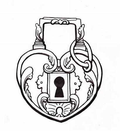 Heart Key Drawings Lock Drawing