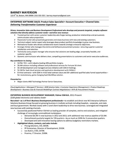Barneys Resume by Sales Sle Resume Resume Cv Cover Letter