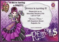 Trend Hing But Template by Ever After High Digital Birthday Invitation Kyryn S