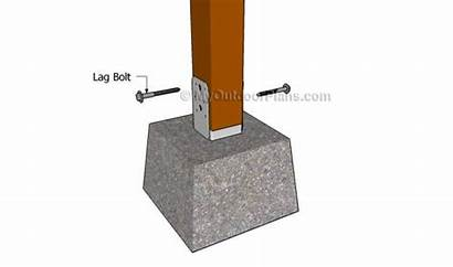 Concrete Anchor Mailbox Plans Into Wooden Locking