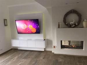 Tv Media Wand : schneewei e tv wand f r elegantes musterhaus luxframes tv w nde led leuchtk sten ~ Sanjose-hotels-ca.com Haus und Dekorationen