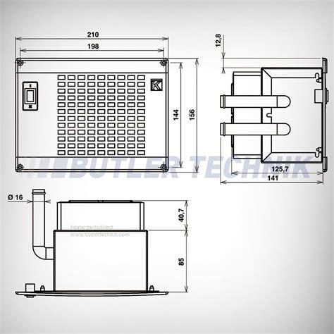 webasto or eberspacher water heater exchanger matrix 12v silencio 1 7kw 12014081