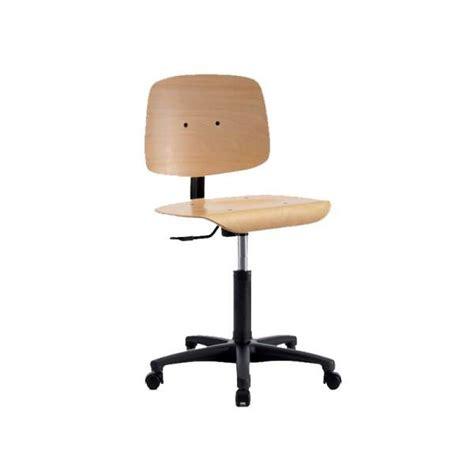 dactyl bureau orleans chaise dactylo en bois sur roulettes tecnik 4 pieds