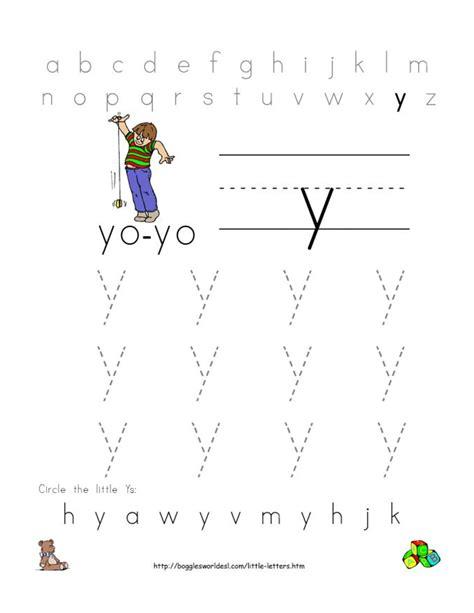 letter y worksheets kindergarten letter tracing small