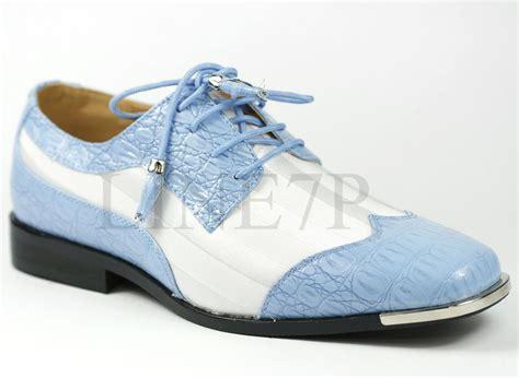 light blue dress shoes mens men 39 s light blue white satin striped silver tip lace up