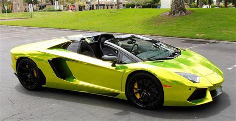 lamborghini aventador j lamborghini aventador roadster in tennis ball yellow chrome