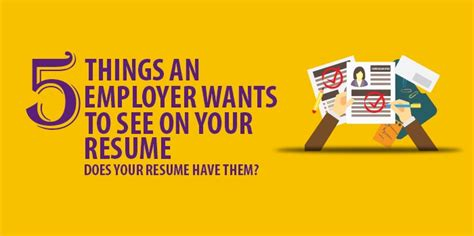 resume cover letters five things an employer wants to