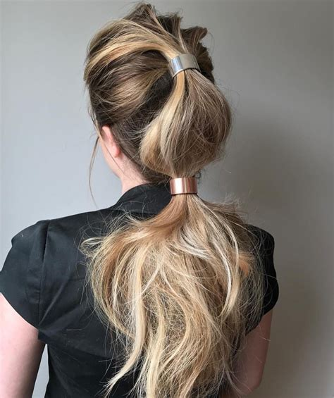 trendiest ponytail hairstyles  long hair  easy