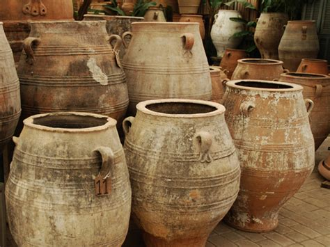 Large Terra Cotta Planters by Pithari Greek Oil Jar For The People Eye Of The Day