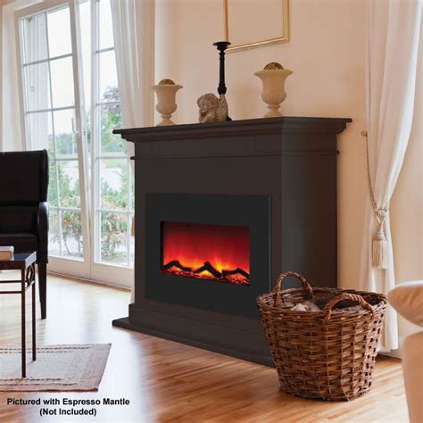 cheap electric fireplace amantii zero clearance electric fireplace w 29x23 in