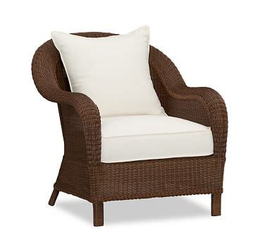 Pottery Barn Seagrass Wingback Chair Honey by Palmetto All Weather Wicker Armchair Honey Pottery Barn