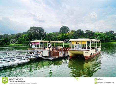 Boat Ride Singapore by River Safari Singapore Boat Ride Editorial Photography