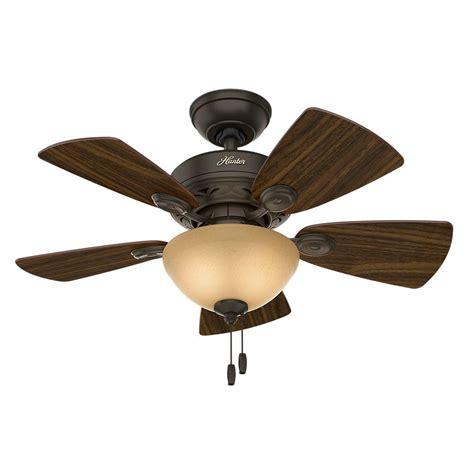 bronze ceiling fan light kit hunter watson 34 in indoor new bronze ceiling fan with