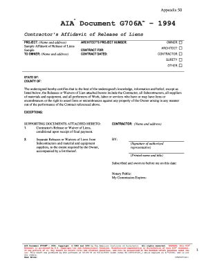 aia g707 form download aia g706 fill online printable fillable blank pdffiller