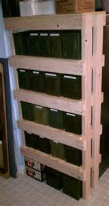 Building Reloading Bench by How To Build An Ammo Can Rack A K A The Overbuilt Shelf