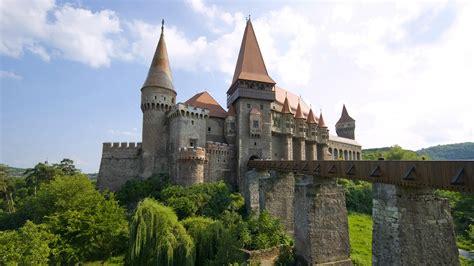 full hd wallpaper corvin castle front view bridge romania