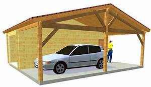 Carport Avec Abri : garage bois et abris voiture ~ Melissatoandfro.com Idées de Décoration