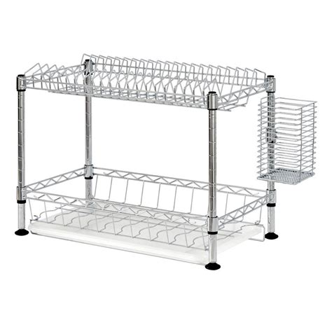 two tier dish rack sandusky 2 tier wire dish rack in chrome wdr101812 the